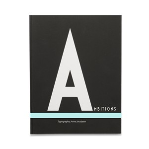 NOTEBOOK AJ  LARGE DESIGN LETTERS
