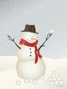 kartka visse - SNOWMAN  Greetings card 15x21