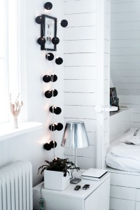 COTTON BALL LIGHTS BLACK  20